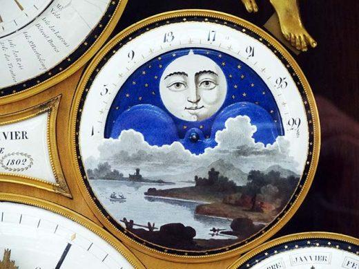 Horloge à indications astronomique et à calendrier (détail), réalisée par Antide Janvier en 1802 (Cliché studio Cnam © Musée des arts et métiers)
