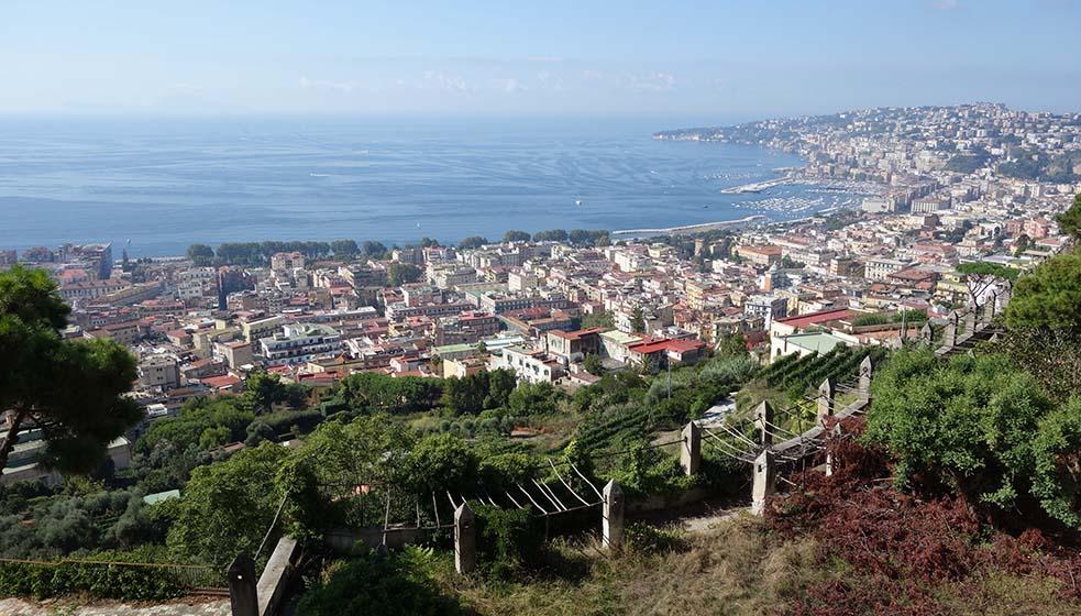 La baie de Naples depuis les terrasses de la Chartreuse de San Martino