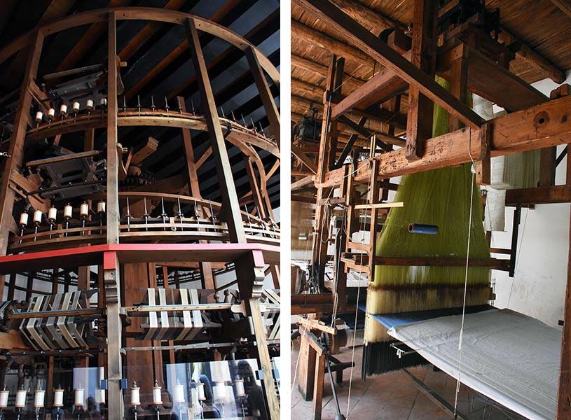Les installations dans l'actuel musée de la soie