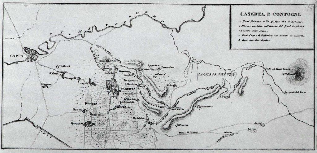 Plan de Caserta et alentours, 1826