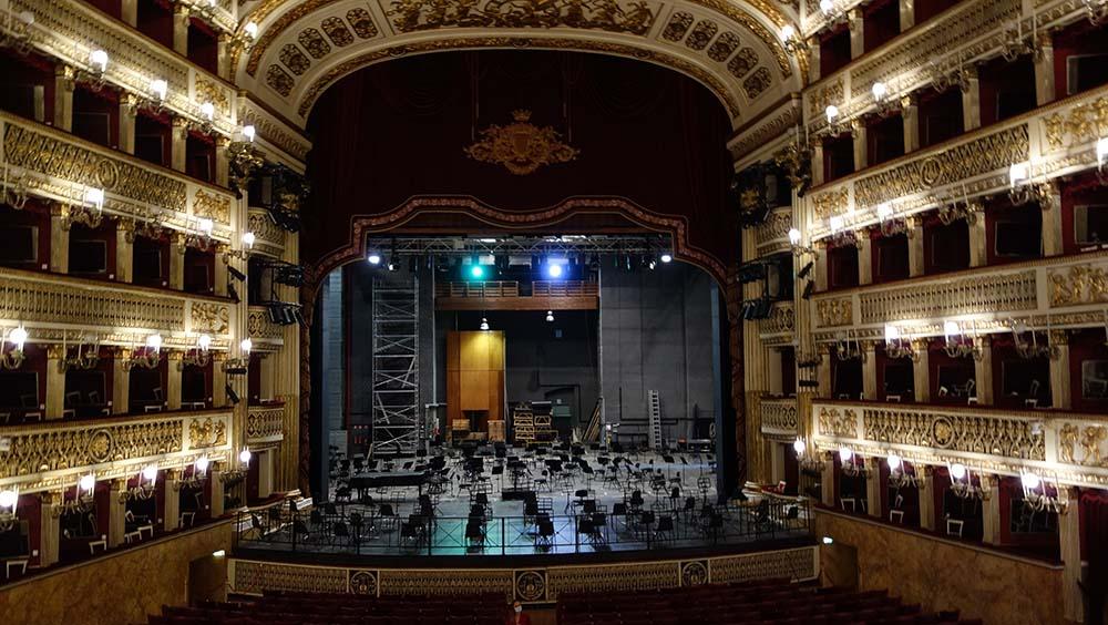 Le théâtre de l'Opéra de Naples
