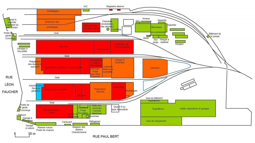 Plans établis en 1945 pour la reconstruction