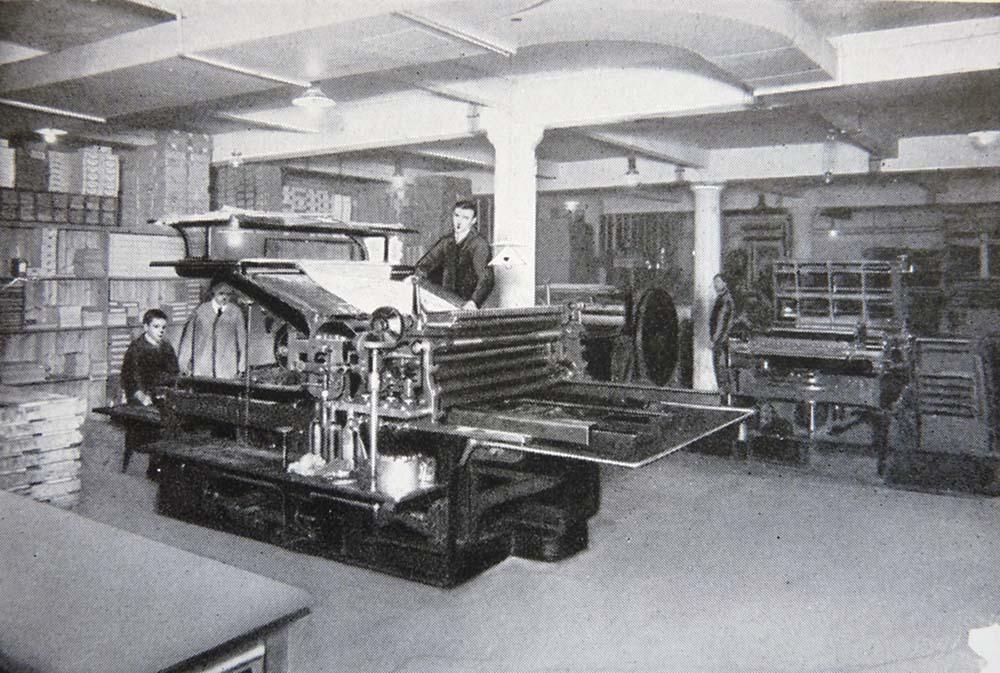 L'imprimerie dans les années 1920