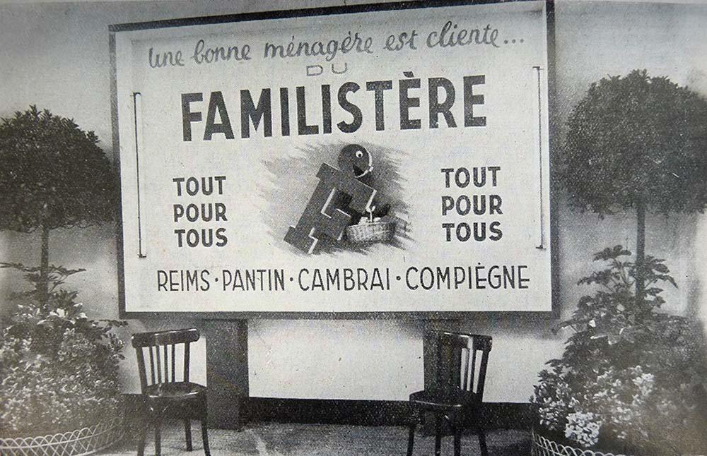 Un stand Familistère à la Foire de Reims en 1949