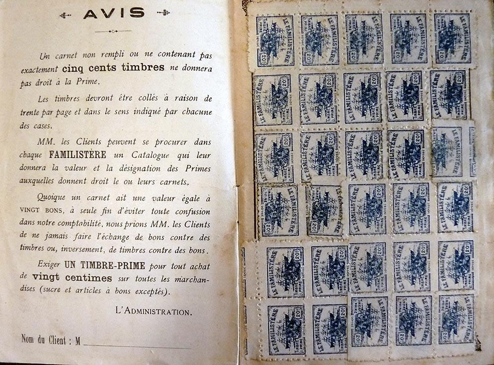 Un carnet de timbres