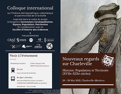 """Brochure du colloque """"Nouveaux regards sur Charleville"""""""