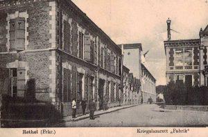 Hôpital militaire allemand dans les bâtiments de l'usine (1914-1918)