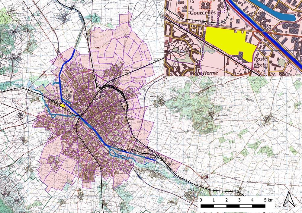 Plan de localisation en 2020