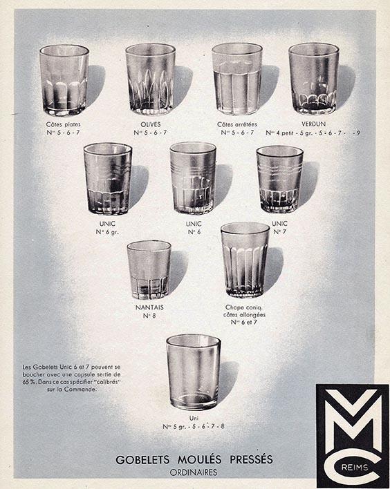 Catalogue gobelets moulés pressés VMC