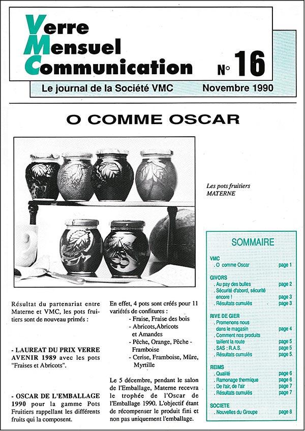 1ère page du journal VMC(2) n°16 de novembre 1990