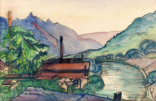 Madeleine Roussin, aquarelle sur papier